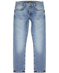 Nudie Jeans - Grim Tim Blue Slim-leg Jeans - Lyst