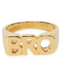 Maria Black Bro Gold-plated Sterling Silver Ring - Metallic