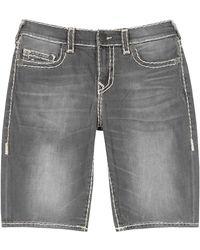 True Religion Ricky Grey Stretch-denim Shorts
