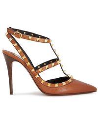 54c9e154a49b4 Valentino Women s Rockstud Suede Cage Pumps - Black - Size 35.5 (5.5 ...