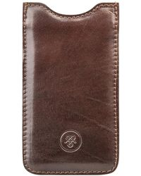 Maxwell Scott Bags Classic Brown Full Grain Leather Iphone 5 Case