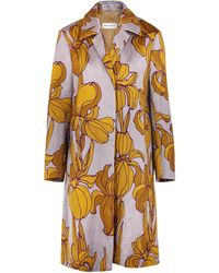 Dries Van Noten - Rolta Floral-print Satin-twill Coat - Lyst