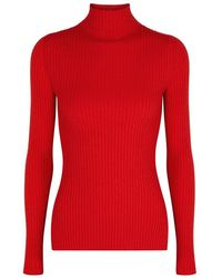 SJYP - Red Ribbed-knit Jumper - Lyst