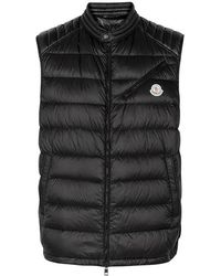 Moncler - Arv Black Quilted Shell Gilet - Lyst