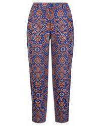 Varana - Jacquard Ajrakh Inspired Cropped Trousers - Lyst