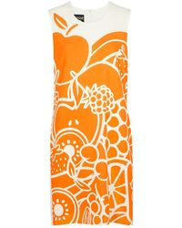 Boutique Moschino Fruit-print Shift Dress - Orange