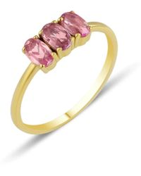 GFG Jewellery by Nilufer Dumom Pink Sapphire Ring