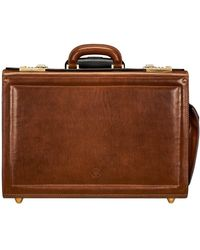 Maxwell Scott Bags Tan Men's Briefcase In Brown