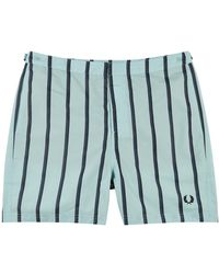 Fred Perry S1522 Blue Striped Swim Shorts