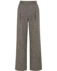 Vince Gray Wide-leg Pants