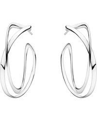 Georg Jensen Infinity Earhoops Large - Metallic