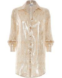 Paolita Dorado Silk Shirt - Metallic