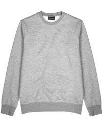 Emporio Armani - Grey Jersey Sweatshirt - Lyst
