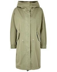 Belstaff - Brinsley Green Stretch Cotton Parka - Lyst