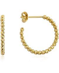 GFG Jewellery by Nilufer Ellie Hoop Earrings - Metallic