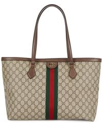 Gucci Ophidia GG Supreme Monogrammed Tote - Natural