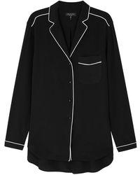 Rag & Bone - Alyse Black Silk Shirt - Lyst
