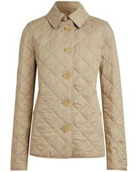 Burberry Diamond Quilted Jacket - Natural