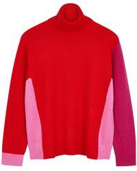 Diane von Furstenberg Apple Roll-neck Wool-blend Sweater - Red