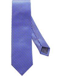 Eton of Sweden - Purple Geometric Silk Tie - Lyst
