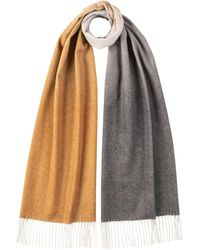 Johnstons Oversized Ombre Cashmere Scarf Natural Multi - Multicolour