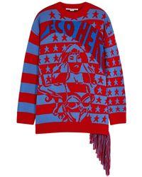Stella McCartney - Two-tone Intarsia Wool Jumper - Lyst