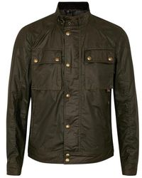 Belstaff - Racemaster Olive Coated Cotton Jacket - Size 40 - Lyst