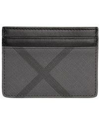4e2539325d2f2 Burberry Bernie Cross-grain Leather Cardholder in Brown for Men - Lyst