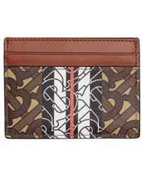 Burberry Printed Textured-leather Cardholder - Brown