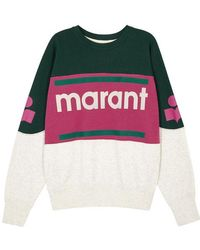 Étoile Isabel Marant - Gallian Logo Cotton-blend Sweatshirt - Lyst