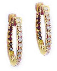 GFG Jewellery by Nilufer Claire Huggie Hoops - Diamonds - White