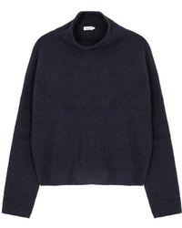 Filippa K - Navy Wool-blend Jumper - Lyst