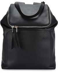 Loewe - Goya Black Leather Backpack - Lyst