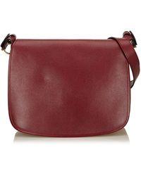 Cartier Red Leather Must De Shoulder Bag