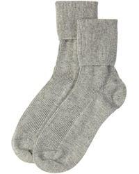Johnstons Silver Womens Cashmere Socks - Metallic