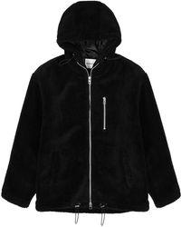 MKI Miyuki-Zoku Black Hooded Fleece Jacket