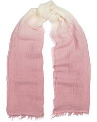 Eileen Fisher Pink Dégradé Linen-blend Gauze Scarf