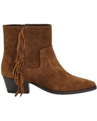 Weekend by Maxmara Suede Leather Ankle Boots - Brown