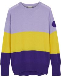 Moncler - Colour-blocked Knitted Jumper - Lyst