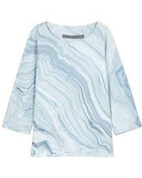 Raquel Allegra - Marble-print Cotton Sweatshirt - Lyst