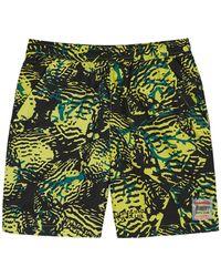 BBCICECREAM Fish Camo Printed Shell Shorts - Yellow