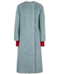 ROKSANDA - Edine Blue Camel-hair Coat - Lyst