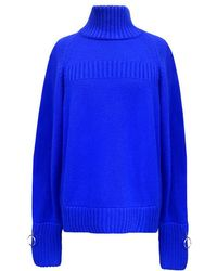 Jamie Wei Huang - Cashmere Turtle Neck Jumper Blue - Lyst