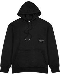 Wooyoungmi Black Logo-print Cotton Sweatshirt