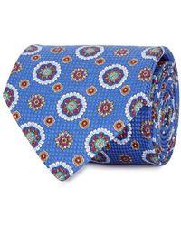 Eton of Sweden - Blue Printed Cotton Tie - Lyst