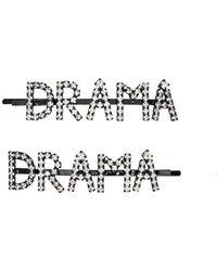 Ashley Williams Drama Crystal-embellished Hair Clips - Metallic
