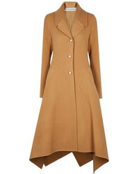 JW Anderson Camel Wool Coat - Natural