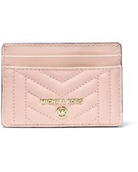 MICHAEL Michael Kors Quilted Leather Card Case - Pink
