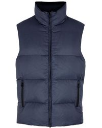 Fendi Navy Reversible Quilted Shell Gilet - Blue