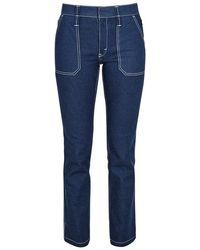 Chloé - Dark Blue Straight-leg Jeans - Lyst
